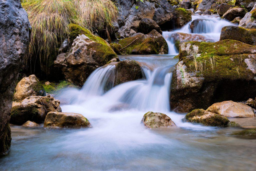 small waterfall in creek