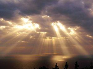 light shining through