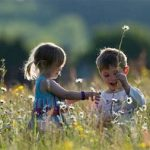 two children in a meadow